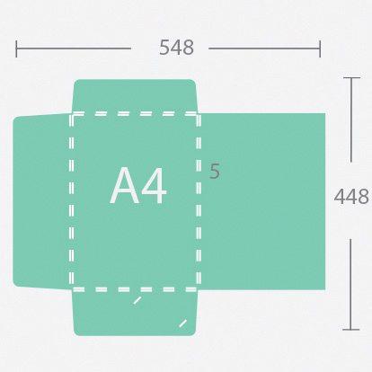 10037 A4 5 mm gerinces dosszié három füllel