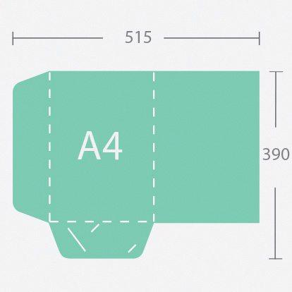 10959 A4 gerinc nélküli dosszié két füllel