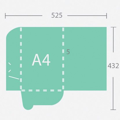 12772 A4 5 mm gerinces dosszié két füllel