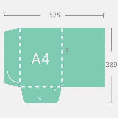 14682 A4 5 mm gerinces dosszié két füllel