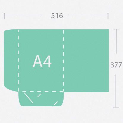 14750 A4 gerinc nélküli dosszié két füllel