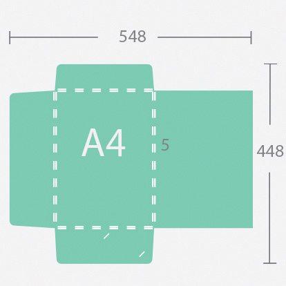 15099 A4 5 mm gerinces dosszié három füllel