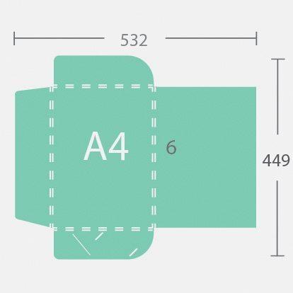 4214 A4 6 mm gerinces dosszié három füllel