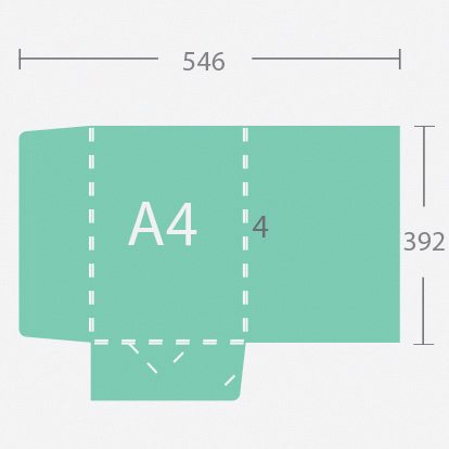 5379 A4 4mm gerinces dosszié két füllel
