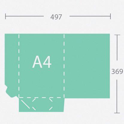 6149 A4 gerinc nélküli dosszié két füllel
