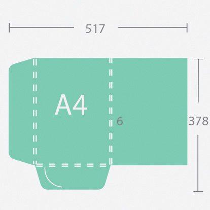 6329 A4 6 mm gerinces dosszié két füllel
