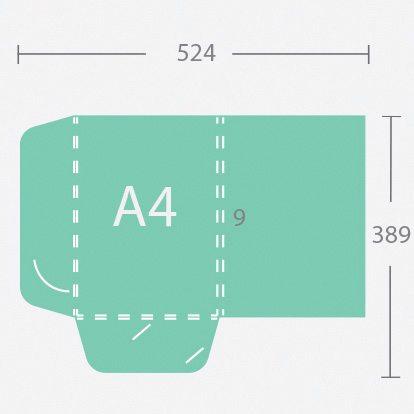 6569 A4 9 mm gerinces dosszié két füllel