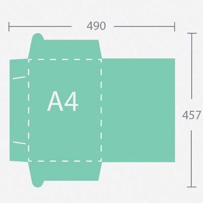 6918 A4 gerinc nélküli dosszié 3 füllel