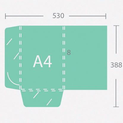 6950 A4 8 mm gerinces dosszié két füllel