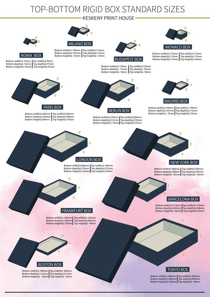 rigid box standard sizes