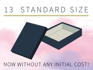 top- bottom rigid box standard sizes
