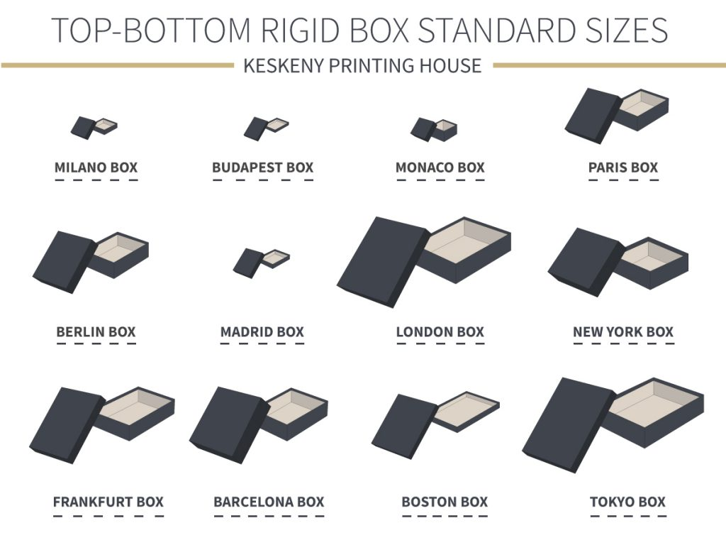 standard top bottom rigid box