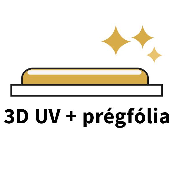 3D UV és, prégfólia ikon