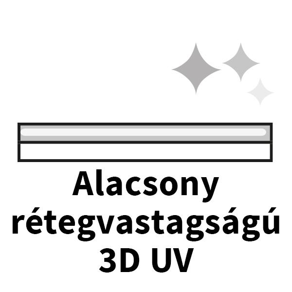 alacsony rétegvastagságú 3d uv ikon