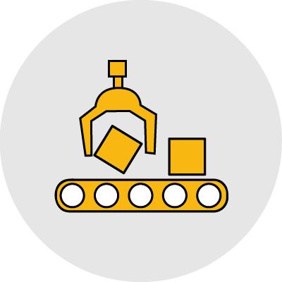 rugalmas gyártás ikon
