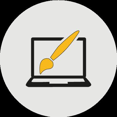 grafikai tervezés ikon