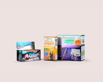 Vitamin és étrendkiegészítő dobozok