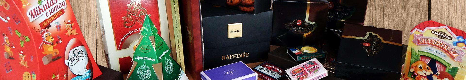 Csokoládé, sütemény csomagolás