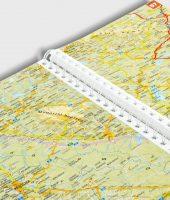 Landkarten mit Ringbindung